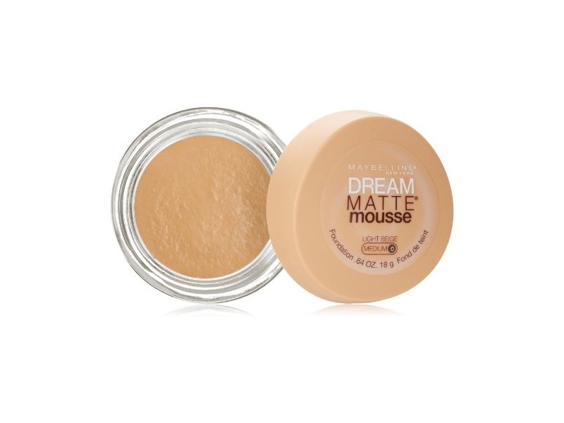 Maybelline New York Dream Matte Mousse Foundation, Light Beige, 0.64 Ounce