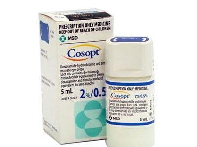 Cosopt Sterile Ophthalmic Solution 2%-0.5% (RX), 5 ml, Merck & Co, Inc - Image 1