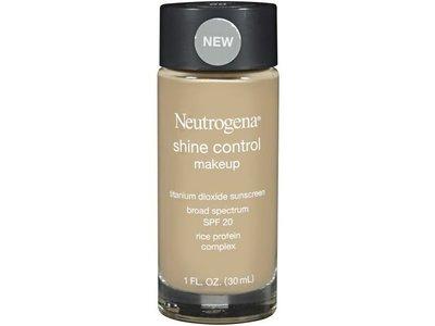 Neutrogena Shine Control Liquid Makeup, Natural Beige Shade, 1 fl oz - Image 1