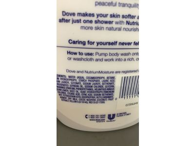 Dove Purely Pampering Body Wash Coconut Milk With Jasmine Petals 34 Fl Oz Ingredients And Reviews