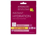 Andalou Naturals Instant Hydration Hydro Serum Facial Mask, 1000 Roses, .6 fl oz - Image 2