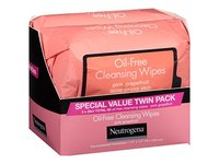 Neutrogena Oil-Free Cleansing Wipes, Pink Grapefruit, 2-pack - Image 6