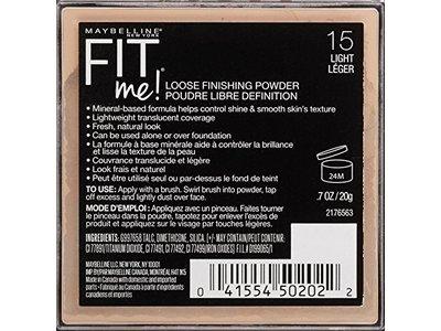 Maybelline Fit Me Loose Finishing Powder, Light, 0.7 oz. - Image 4
