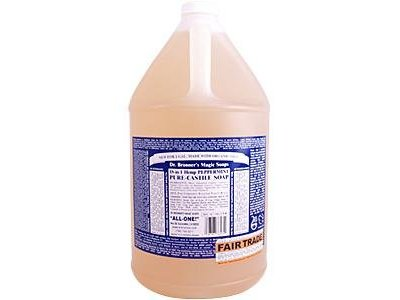 Dr. Bronner's Castile Liquid Soap, Peppermint, 1 Gal