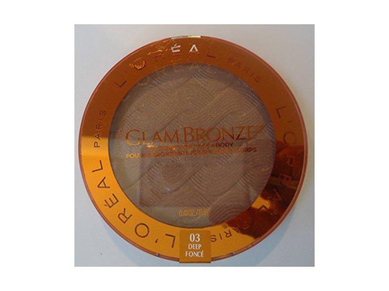 L'Oréal Paris Glam Bronze Bronzer for Face & Body, 03 Deep Foncé, 0.41 oz