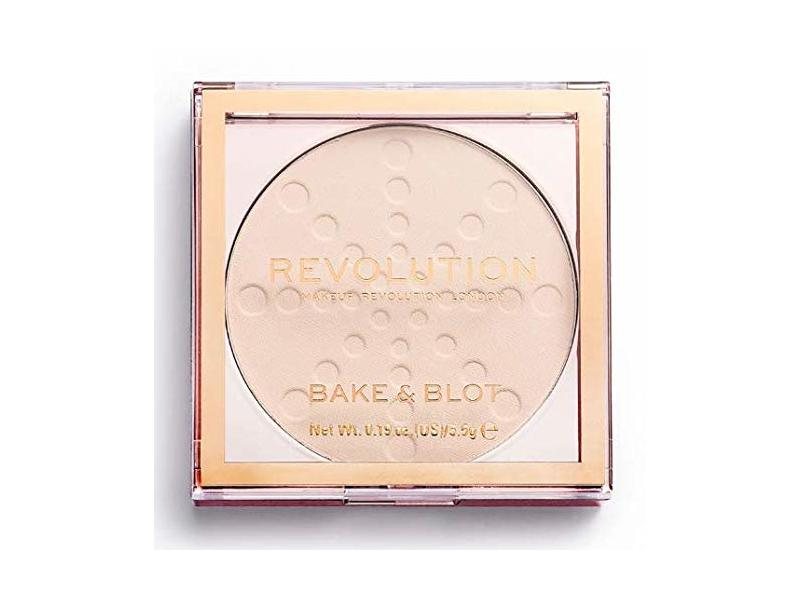 Makeup Revolution London Bake And Blot Pressed Powder, Translucent, 0.19 oz