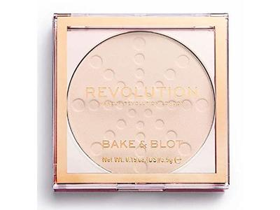 Makeup Revolution London Bake And Blot Pressed Powder, Translucent, 0.19 oz - Image 1