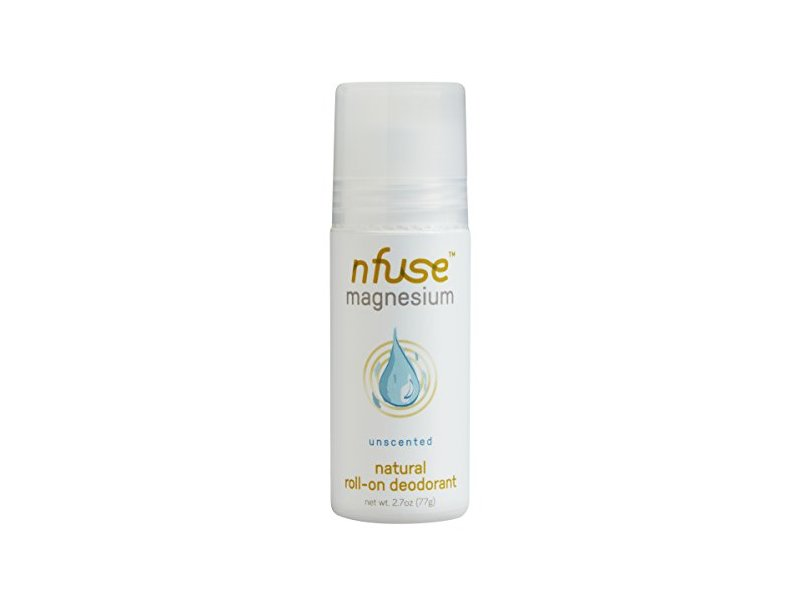 nfuse Magnesium Deodorant Natural Roll-On Deodorant, Unscented, 2.7 oz