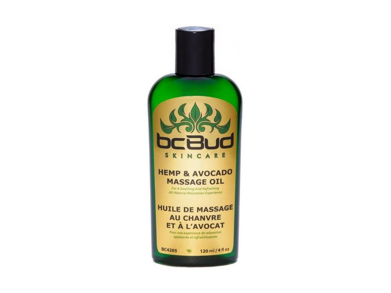 BC Bud Skincare Hemp & Avocado Massage Oil,120 ml /4 fl oz