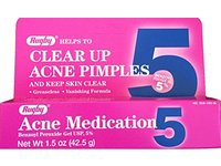 Rugby Clear up Acne Medication, Benzoyl Peroxide Gel USP 5%, 1.5 oz (2 tubes) - Image 6