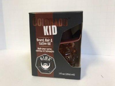 GIBS Grooming for Men Colorado Kid Beard, Hair, and Tattoo Oil, 1 Ounce
