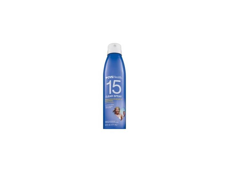 CVS Health Clear Broad Spectrum Sunscreen Spray, SPF 15