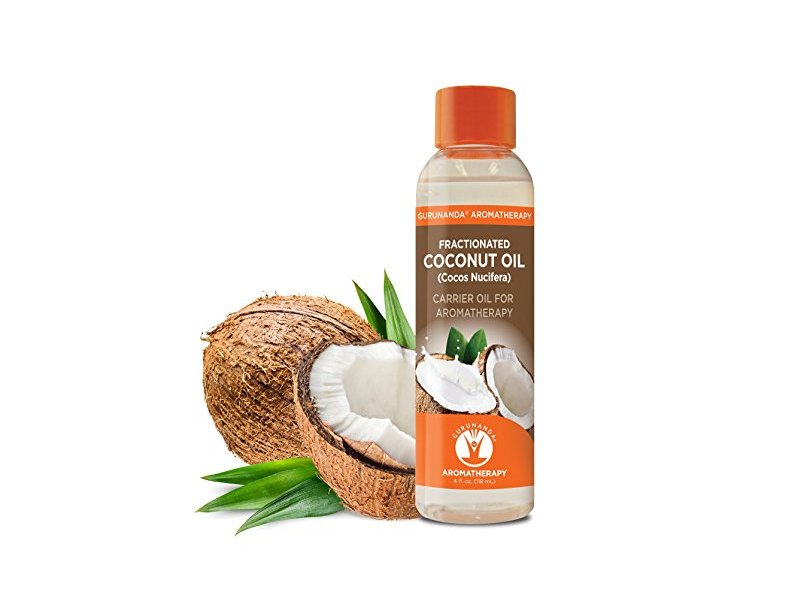 GuruNanda Fractionated Coconut Oil Cold Pressed Coconut Oil, 4 fl oz