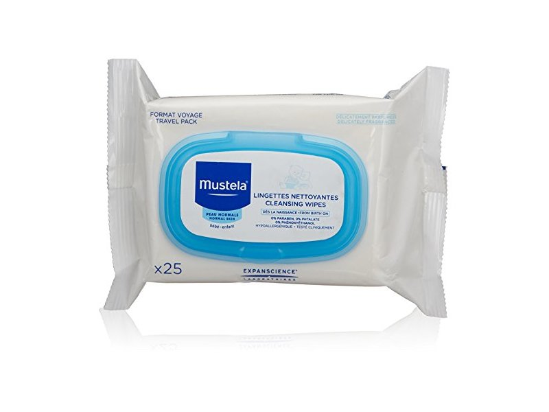 Mustela Cleansing Wipes, 25 count