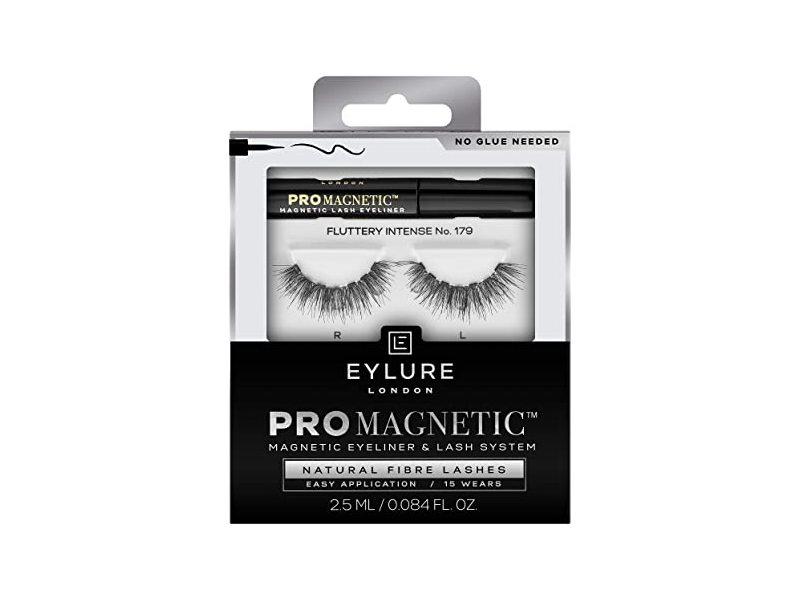 Eylure London Pro Magnetic Natural Fiber lashes, No.117, Black, 0.084 fl oz/2.5 mL