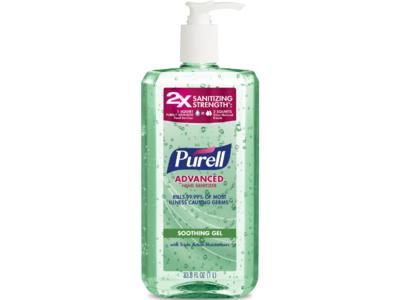 Purell Advanced Hand Sanitizer, Soothing Gel, 33.8 fl oz/1 L
