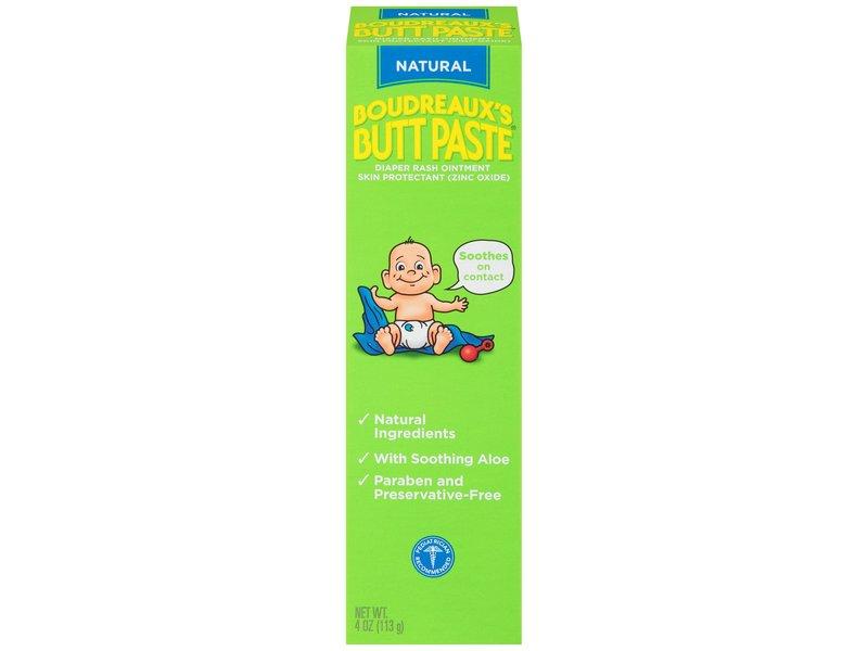 Boudreaux's Butt Paste Diaper Rash Ointment, Natural, 4 oz