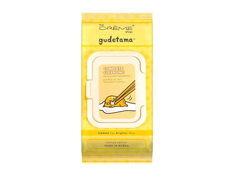 The Creme Shop Gudetama Complete Cleansing Towelettes, Lemon
