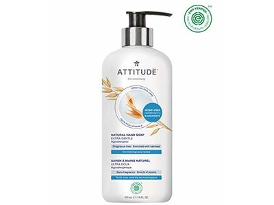 ATTITUDE Sensitive Skin, Hypoallergenic Hand Soap, Fragrance Free, 16 Fluid Ounce - Image 1