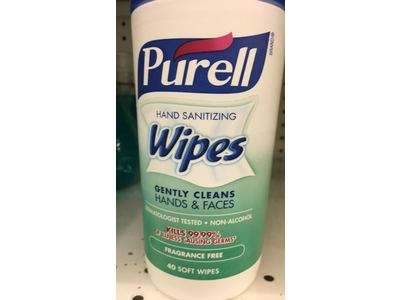 Purell Hand Sanitizing Wipes, Fragrance Free, 40 count - Image 3