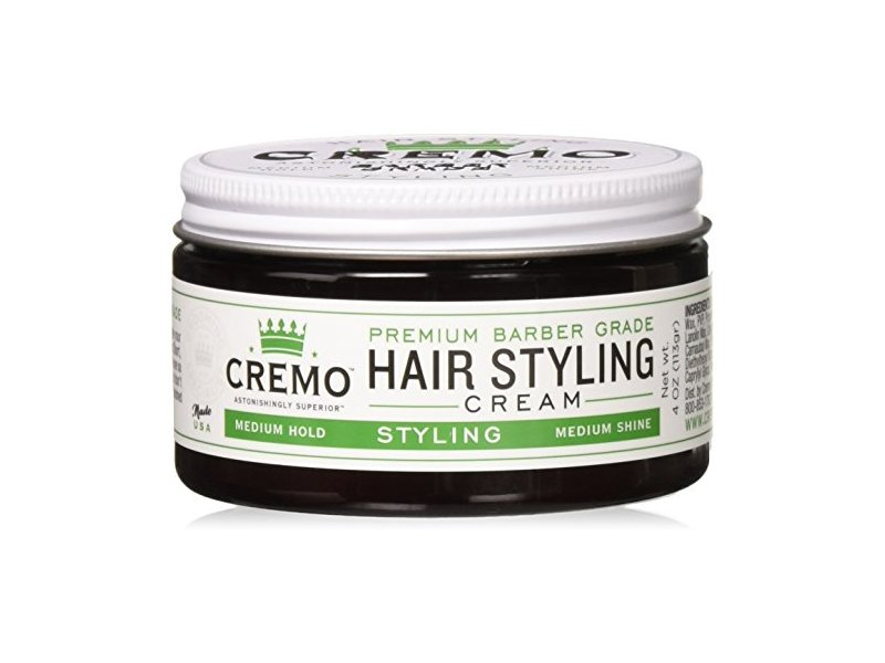 Cremo Hair Styling Cream, Medium Shine, 4 oz