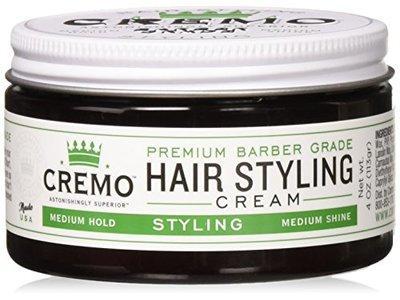 Cremo Hair Styling Cream, Medium Shine, 4 oz