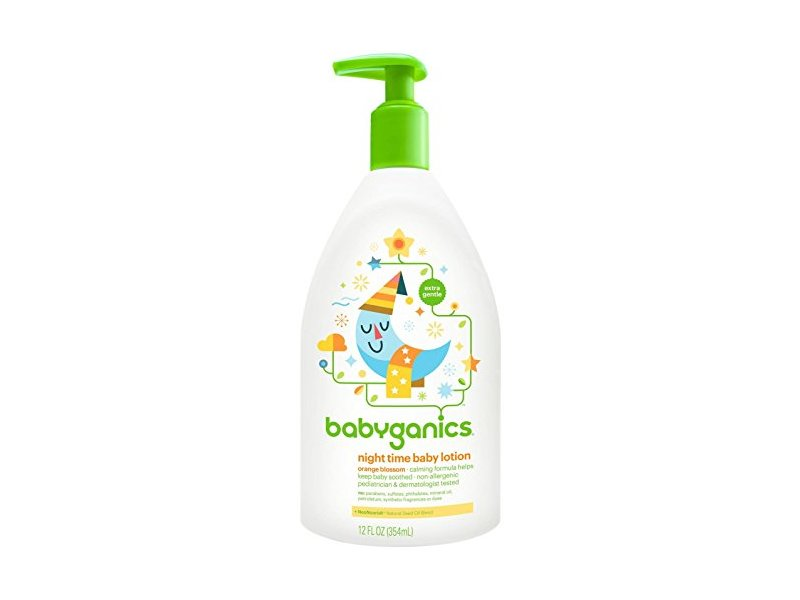 BabyGanics Smooth Moves Night Time Baby Lotion, Natural Orange Blossom, 12oz