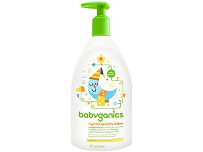 BabyGanics Smooth Moves Night Time Baby Lotion, Natural Orange Blossom, 12oz - Image 1