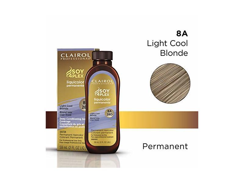 Clairol Permanent Liquicolor, 8a Light Cool Blonde, 2 oz.