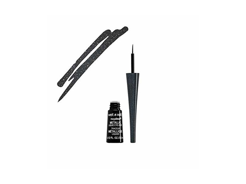 Wet N Wild Megaliner Metallic Liquid Eyeliner, Cosmic Black