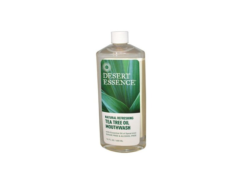 Desert Essence Tea Tree Oil Mouthwash, 16 oz
