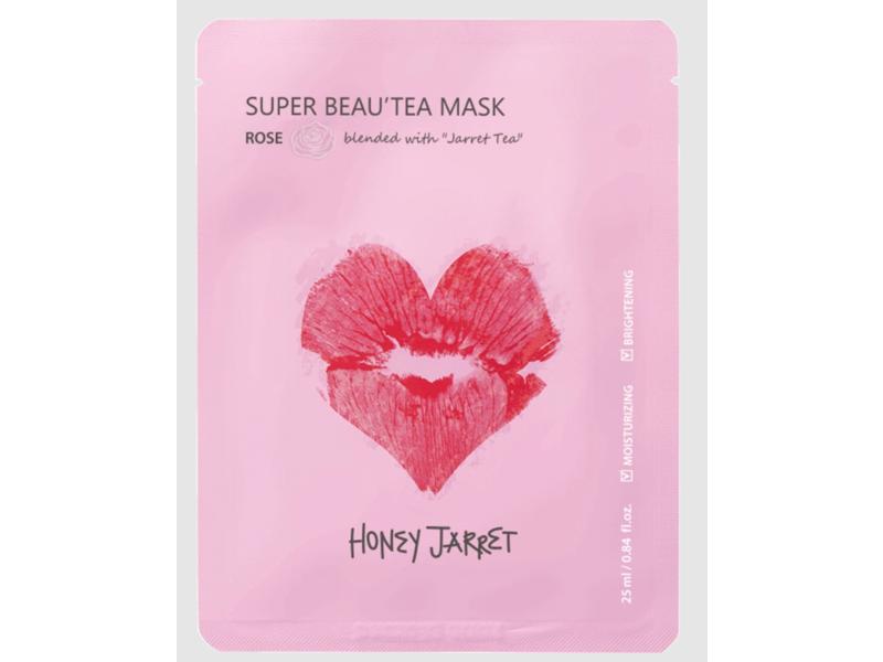 Honey Jarret Super Beau'tea Sheet Mask, Rose, 0.84 fl oz