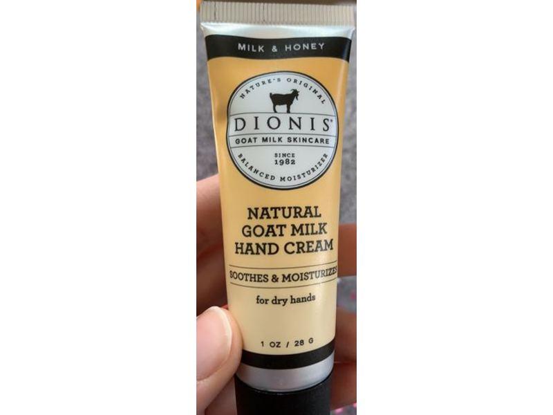 Dionis Natural Goat Hand Cream, Milk & Honey, 1 oz/28 g