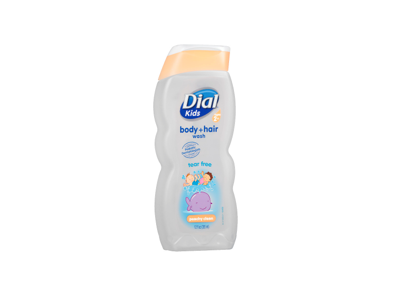 Dial Kids Peachy Clean Body+Hair Wash, Clear Blue, 12 fl oz.