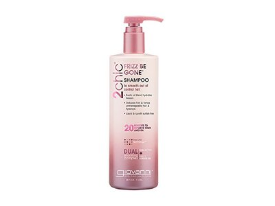 Giovanni 2chic Frizz Be Gone Shea Butter & Sweet Almond Oil Shampoo, 24 oz