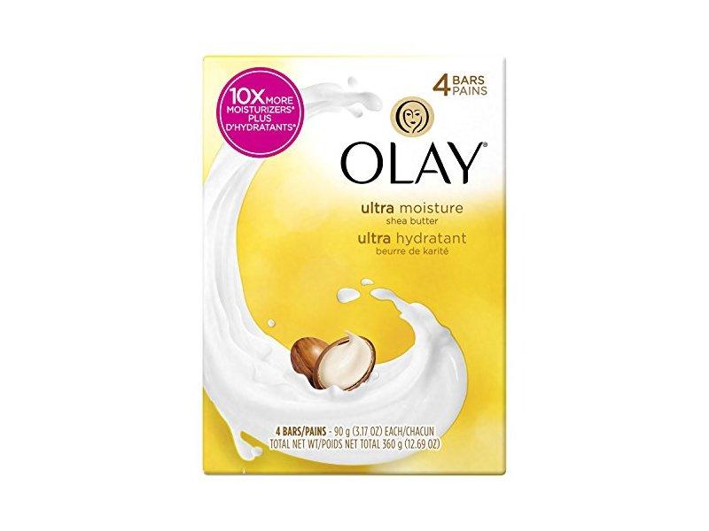 Olay Ultra Moisture Beauty Bar Soap with Shea Butter - 3 oz - 4 ct