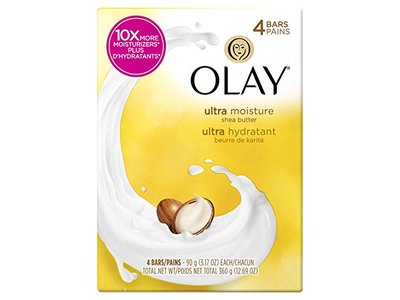 Olay Ultra Moisture Beauty Bar Soap with Shea Butter - 3 oz - 4 ct