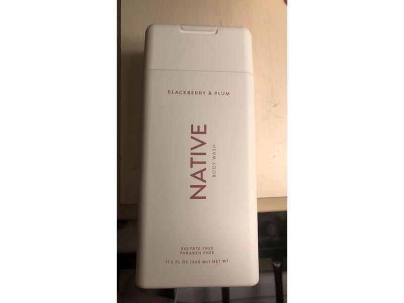 Native Body Wash, Blackberry & Plum Body Wash, 11.5 fl oz