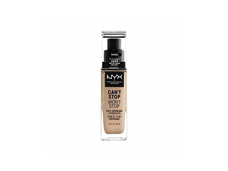 Nyx Professional Makeup Can't Stop Won't Stop Full Coverage Foundation, Natural, 1.0 Ounce