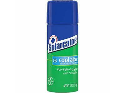 Solarcaine Cool Aloe Burn Pain Relieving Spray, Lidocoine, 4.5 oz/127 g
