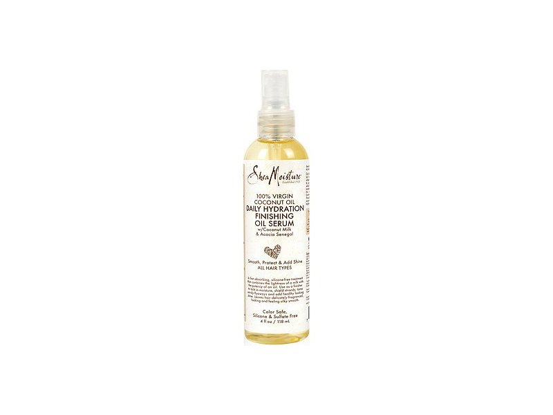 SheaMoisture 100% Virgin Coconut Oil Daily Hydration Finishing Oil Serum, 4 fl oz (Pack of 3)