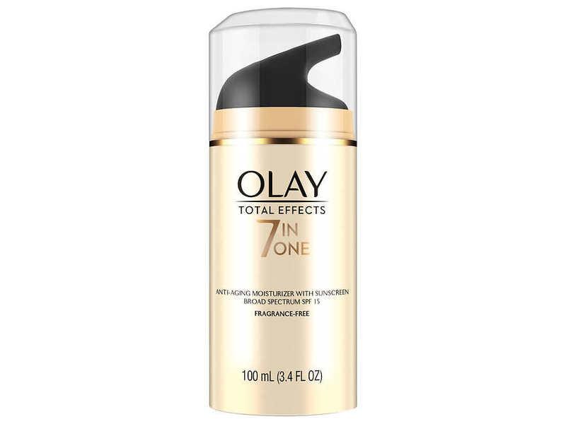 Olay Total Effects 7-in-1 Anti-Aging Moisturizer, SPF 15, Fragrance Free, 3.4 fl oz