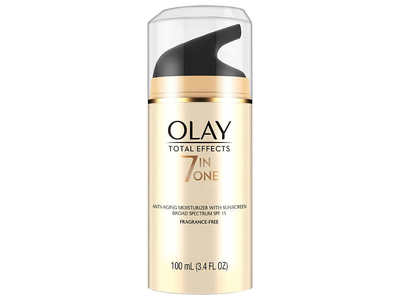 Olay Total Effects 7-in-1 Anti-Aging Moisturizer, SPF 15, Fragrance Free, 3.4 fl oz