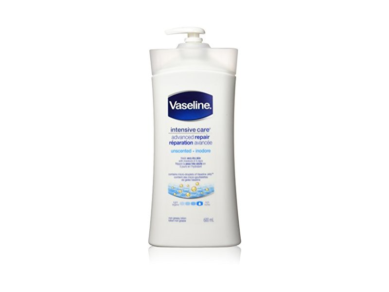 Vaseline Intensive Care Advanced Repair Unscented Lotion, 600 ml