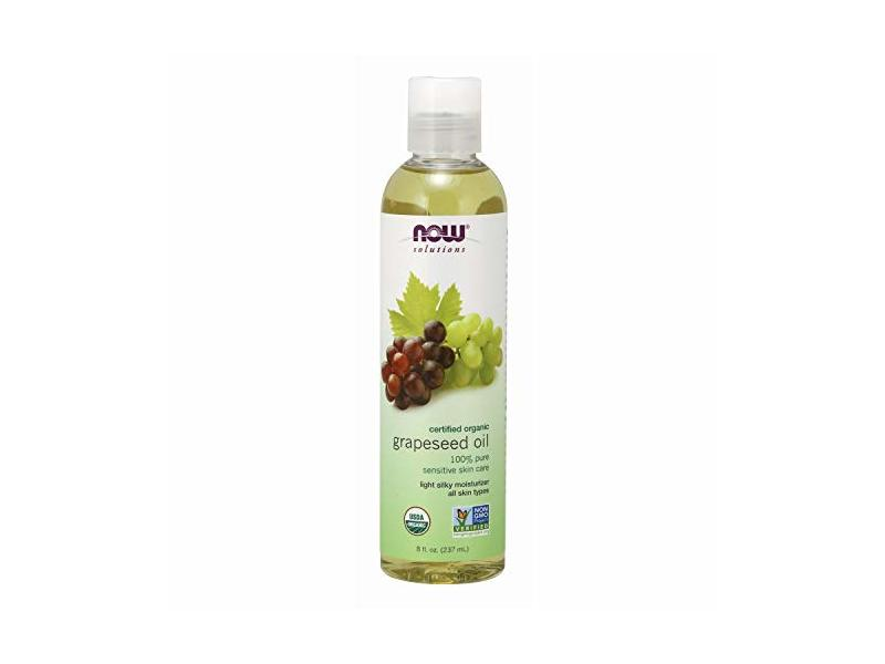 Now Solutions Organic Grapeseed Oil, 8 oz
