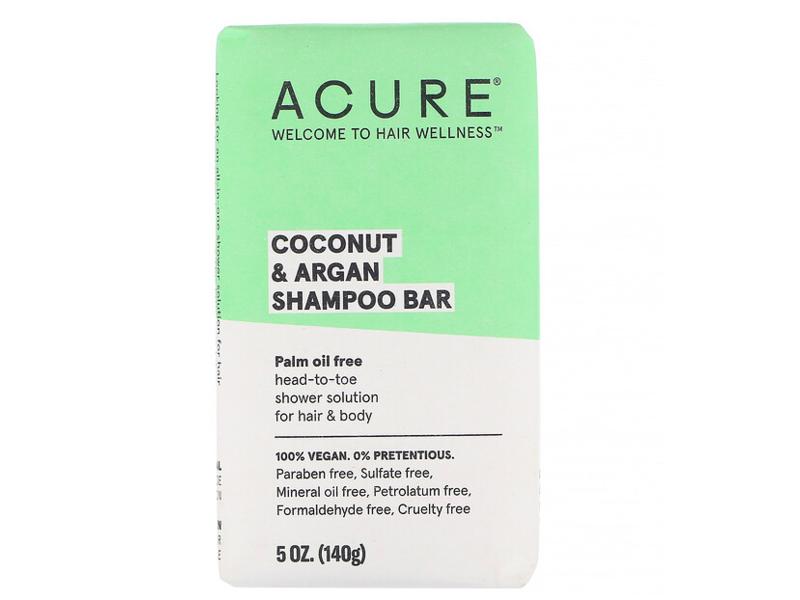 Acure Coconut & Argan Shampoo Bar, 5 oz
