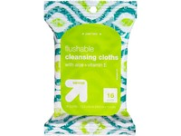 Up & Up Flushable Cleansing Cloths with Aloe & Vitamin E, 16 count - Image 2