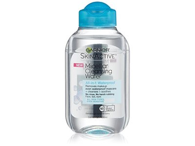 Garnier SkinActive Micellar Cleansing Water All-in-1 Cleanser & Waterproof Makeup Remover, 3.4 Fluid Ounce