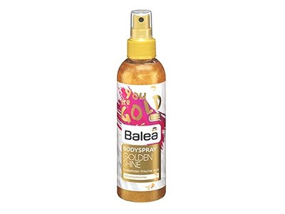 Balea Golden Shine Body Spray, Sparkling Gold Shimmer Effect, 200 ml
