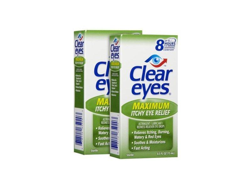 Clear Eyes Itchy Eye Relief Eye Drops, 0.5 Oz